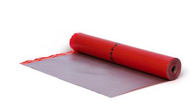 Universal-Trittschallunterlage für Klick-Beläge auf Fußbodenheizung.