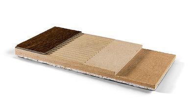 Unterboden mit perfekter Ausgleichsfähigkeit. Verklebung von Teppich, Designböden, CV und Linoleum. Beste Trittschalldämmung von 25 dB.